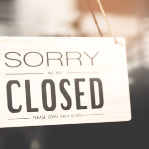 vanwege corona gesloten